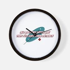 Old Doctors Never Die Wall Clock