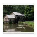 Mabry Mill Father's Day Gift Tile Coaster