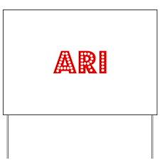 Retro Ari (Red) Yard Sign