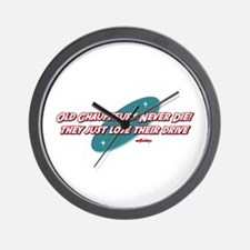 Old Chauffeurs Never Die Wall Clock