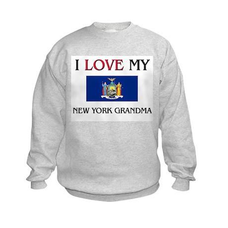 I Love My New York Grandma Kids Sweatshirt