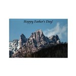 Castle Crags CA. Father's Day Gifts Rectangle Magn