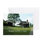 Brinegar Cabin Father's Day Gift Greeting Card