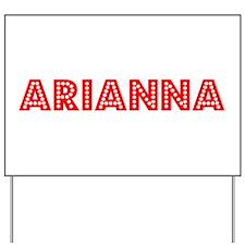 Retro Arianna (Red) Yard Sign