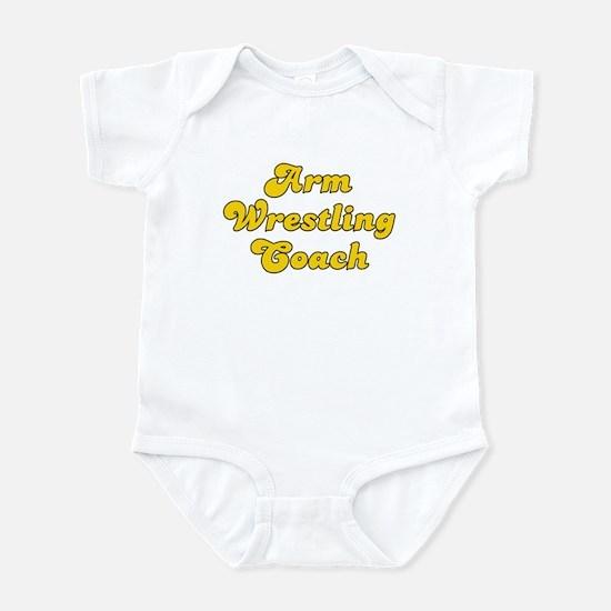 Retro Arm Wrestli.. (Gold) Infant Bodysuit