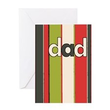 dad mod stripes (red) father's day Card