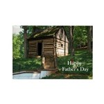 Log Cabin Father's Day Rectangle Magnet (100 pack)