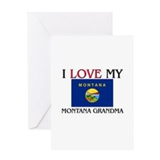I Love My Montana Grandma Greeting Card