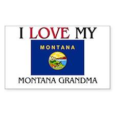 I Love My Montana Grandma Rectangle Decal