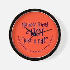 """Not """"just a cat"""" Wall Clock"""