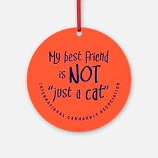 "Not ""just a cat"" Keepsake (Round)"