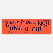 """Not """"just a cat"""" Bumper Bumper Bumper Sticker"""