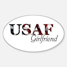USAF Girlfriend (Flag) Oval Decal