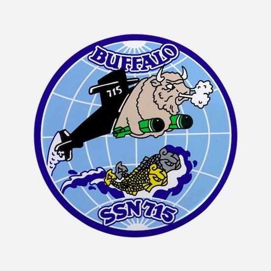 """USS Buffalo SSN-715 3.5"""" Button"""