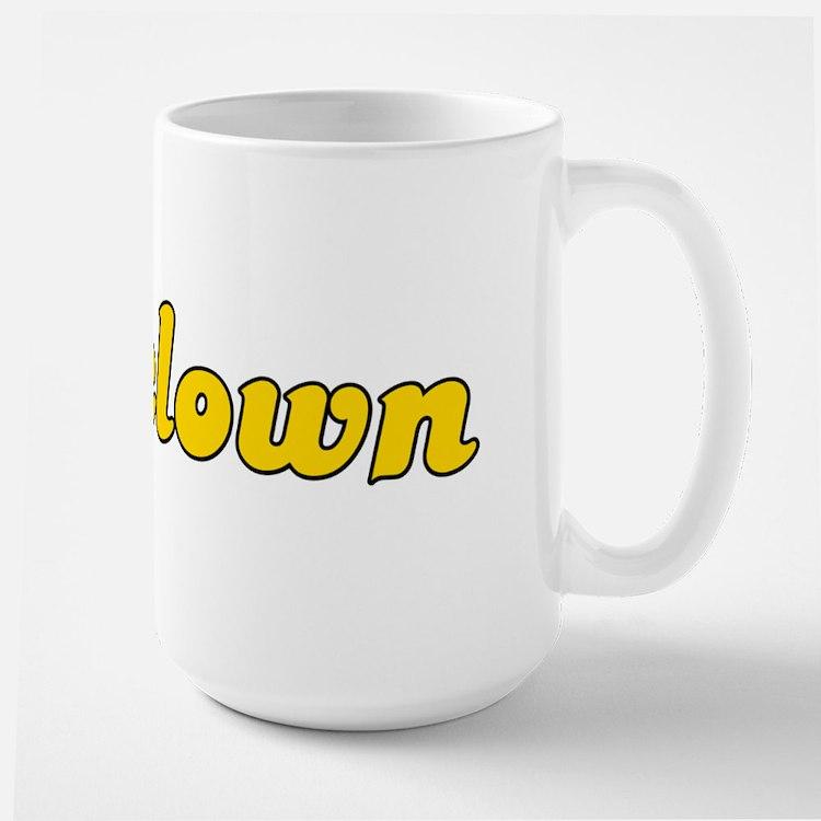 Retro Assclown (Gold) Large Mug