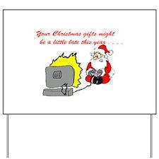 Santa's Video Games Yard Sign