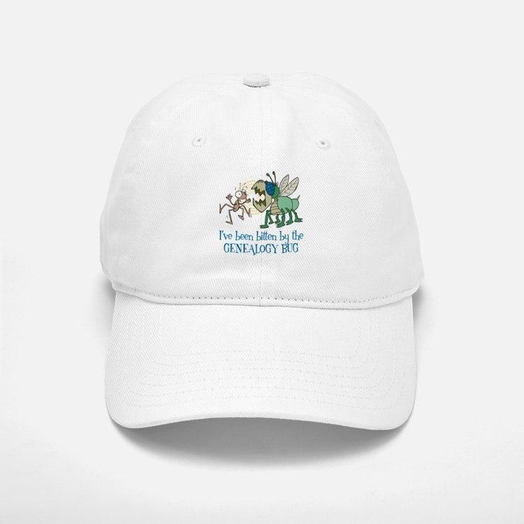 Bitten by Genealogy Bug Baseball Baseball Cap