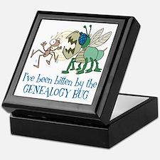 Bitten by Genealogy Bug Keepsake Box