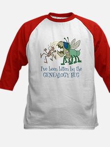 Bitten by Genealogy Bug Kids Baseball Jersey