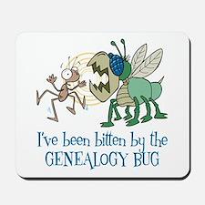 Bitten by Genealogy Bug Mousepad