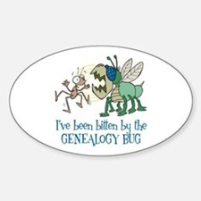 Bitten by Genealogy Bug Oval Bumper Stickers