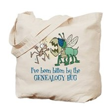 Bitten by Genealogy Bug Tote Bag