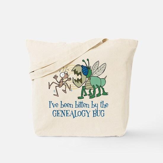 Bitten by Genealogy Bug Tote Bag