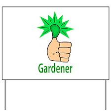 Green Thumb Gardener Yard Sign