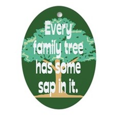 Family Tree Sap Oval Ornament