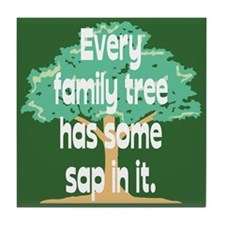 Family Tree Sap Tile Coaster