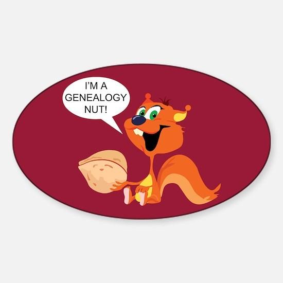 Genealogy Nut Oval Decal