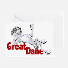 Harlequin Great Dane LBUC Greeting Card