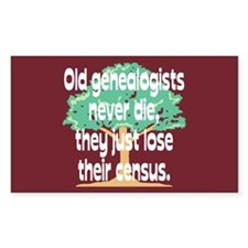 Lose Their Census Rectangle Decal