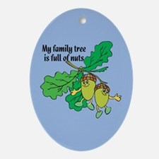 Full of Nuts Oval Ornament