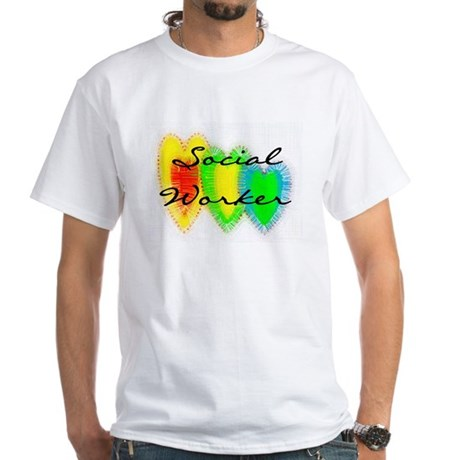 Social Worker White T-Shirt