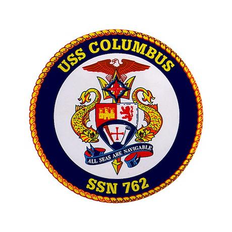 """USS Columbus SSN-762 3.5"""" Button"""
