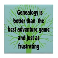 Genealogy Game Tile Coaster