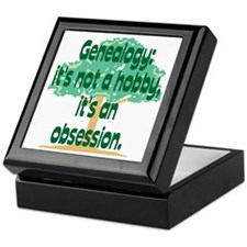 Genealogy Obsession Keepsake Box