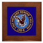 USS Denver LPD-9 Framed Tile
