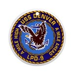 USS Denver LPD-9 Ornament (Round)