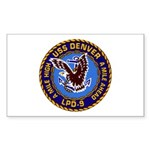 USS Denver LPD-9 Rectangle Sticker 10 pk)