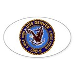 USS Denver LPD-9 Oval Sticker