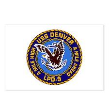 USS Denver LPD-9 Postcards (Package of 8)