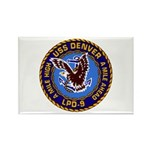 USS Denver LPD-9 Rectangle Magnet (100 pack)