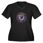 USS Denver LPD-9 Women's Plus Size V-Neck Dark T-S
