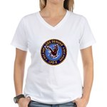 USS Denver LPD-9 Women's V-Neck T-Shirt