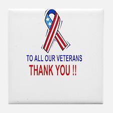 Unique Patriotic thank you Tile Coaster