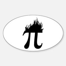 Hair Pi Oval Decal