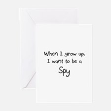 When I grow up I want to be a Spy Greeting Cards (