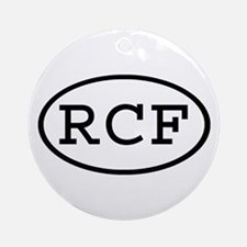 RCF Oval Ornament (Round)